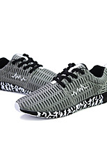 Men's Shoes Tulle Casual Sneakers Casual Walking Flat Heel Lace-up Black / Blue / Gray