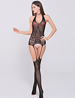 Women's Transparent Mesh Halter Ultra Sexy / Teddy Nightwear,Nylon
