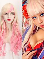 de la manera más destacado de color rosa gradiente de onda rubia de moda las pelucas cosplay del estilo encantador