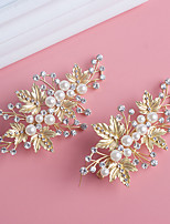 Women's / Flower Girl's Pearl / Rhinestone Headpiece-Wedding / Special Occasion / Office & Career Hair Clip 2 Pieces