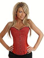 YUIYE® Women Sexy Lingerie Waist Training Corset Bustier Tops Shapewear Red Black Overbust Corset Party Dress 2XL