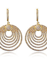 Women Fashion Earrings 18K Gold & Platinum Plated With White Cubic Zirconia Drop Earrings Bridal & party Jewelery