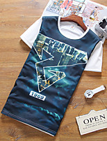New Fashion Pattern Print Men's T-Shirt High Quality Cotton Material Summer Short Sleeve