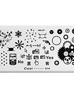 BlueZOO Rectangle Printing Nail Art Stamping (C-014)