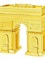 Puzzle 3D Puzzle / modelli in metallo Costruzioni Giocattoli fai da te edifici famosi Metallo Argento / OroModellino e gioco di