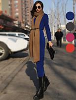 VERRAGEE® Women's Crew Neck Long Sleeve Maxi Dress-D002
