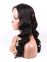 Eva wigs 6A Grade brazilian virgin hair  lace front wigs black color loose wave lace wigs