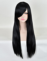 Fashion Long Natural Straight of High Quality Black Color Synthetic Wigs