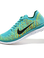 Nike Free Flyknit Men's Running Shoe Sneakers Athletic Shoes Green Peach Red