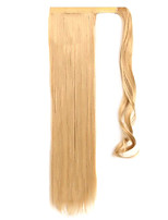 Golden 60CM Synthetic High Temperature Wire Wig Straight Hair Ponytail Color 22/613