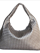 Women-Outdoor-PU-Tote-Gold / Silver / Black