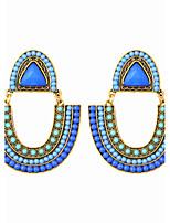 Bohemian Beads U-shaped Beach Holiday Style Earrings