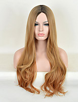 Fashion Natural Golden Waves of High Quality Brown Color Synthetic Hair