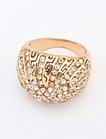 2016 Hot Style Fashion Big Ring Exaggerated Rhinestone Ring Unisex Engagement Women Men Gift