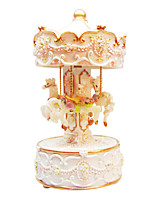 poterie créative or boîte de musique romantique pour le cadeau