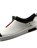 Men's Shoes PU Office & Career / Casual Fashion Sneakers Office & Career / Casual Flat Heel Black / White