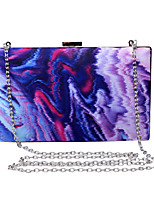 L.WEST Women's Handmade ThIrregular Color Ink Evening Bag