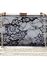 L.WEST Women's Lace Transparent Evening Bag