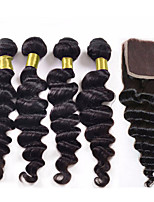 Affordable Mink 7A Peruvian Virgin Hair with Closure Modern Show hair Peruvian loose wave with closure