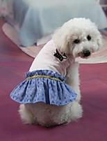 Classic Pure Color Jeans Pet Dress