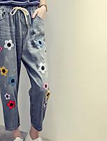 De las mujeres Pantalones Vaquero Rígido-Algodón