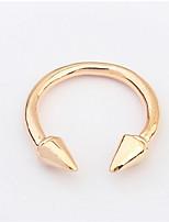 Anéis Mulheres Sem Pedra Liga Liga Ajustável Dourado / Prata