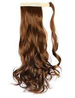 Wig Brown 45CM Synthetic High Temperature Wire Curly Horsetail Color 27