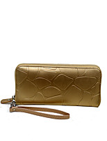 L.WEST women's Retro Stone grain purse female long zipper wallet