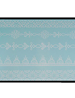 Lovely HENNA Lace Big White Face Sticker 14