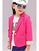 Girl's Red / Yellow Suit & Blazer,Solid Cotton Spring / Fall