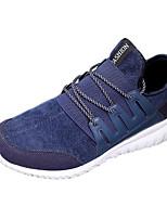 Scarpe da uomo-Sneakers alla moda-Casual-Tessuto-Nero / Blu / Dorato