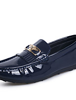Men's Shoes PU Casual Loafers Casual Flat Heel Black / Blue / White
