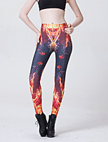 Women Print Legging,Polyester / Spandex