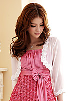 Wedding / Party/Evening Chiffon Roses Shrugs 3/4-Length Sleeve Women's Wrap