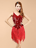 Latin Dance Dresses Women's Performance Spandex Sequins / Tassel(s) Dance Costume