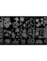 BlueZOO Rectangle Forest Garden Nail Art Stamping (BC-17)