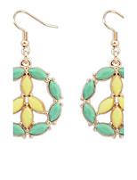 Fashion Sweet Hollow Flower Water Drop Circle Earrings