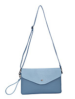 DAVIDJONES/Women PU Envelope Shoulder Bag / Satchel / Cross Body Bag-Blue