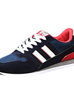 Men's Sneakers Spring / Summer / Fall / Winter Comfort PU Casual Flat Heel Lace-up Black / Blue / Green Walking