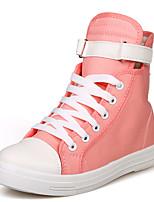 Women's Shoes Denim Flat Heel Comfort Fashion Sneakers Dress / Casual Black / Blue / Green / Pink / White