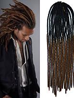 20inch Kanekalon Senegalese Braids Soft Dread Lock Synthetic Braiding Hair Black Ombre Dark Brown with Crochet Hook