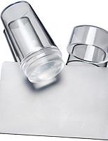 BlueZOO Transparent 2 Set Acrylic Nail Art Stamping