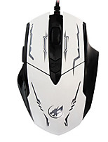 War Wolf 6D Wired Gaming Mouse 2400dpi Backlit Breathing Light Mice for LOL/CF/DOTA Black/White