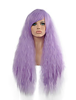Curly Purple Lady Wigs Hair Cosplay Synthetic Hair Wigs