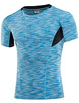 Men's Running T-shirt Running Quick Dry / Wicking Red / Black / Blue Others Sports Wear