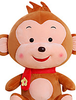 Fubao Monkey Monkey Mascot Zodiac Monkey Puppet Doll Baby Safe Plush Toys 25Cm Khaki