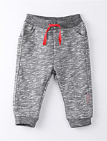 Girl's Solid Pants,Cotton Summer Gray