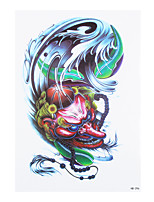 8PCS Black Cosplay Skull Bone Death Sickle Tattoo Temporary Women Men Body Sleeve Waist Art Tattoo Sticker Dancing