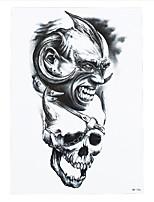 8PCS Fashion Paste Paper Waterproof Temporary Tattoo Sticker Skull Eagle Wave Women Man Body Art Painting Tattoo Tatoo