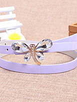 Women Leather Dragonfly Skinny Belt,Vintage / Cute / Party / Casual Alloy